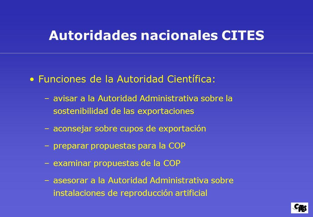 Autoridades nacionales CITES