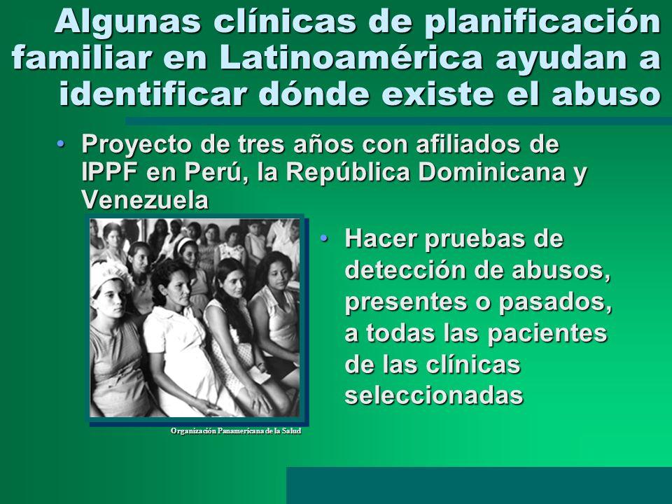 Algunas clínicas de planificación familiar en Latinoamérica ayudan a identificar dónde existe el abuso