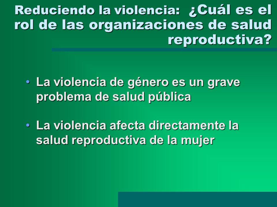 La violencia de género es un grave problema de salud pública