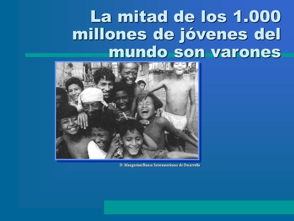 La mitad de los 1.000 millones de jóvenes del mundo son varones