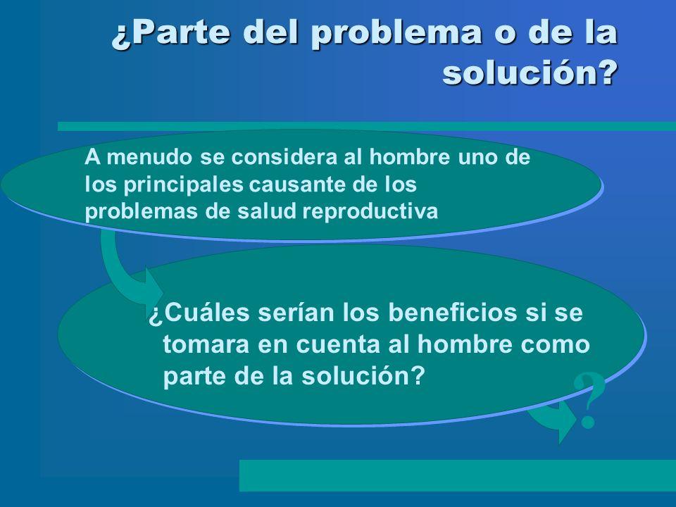 ¿Parte del problema o de la solución