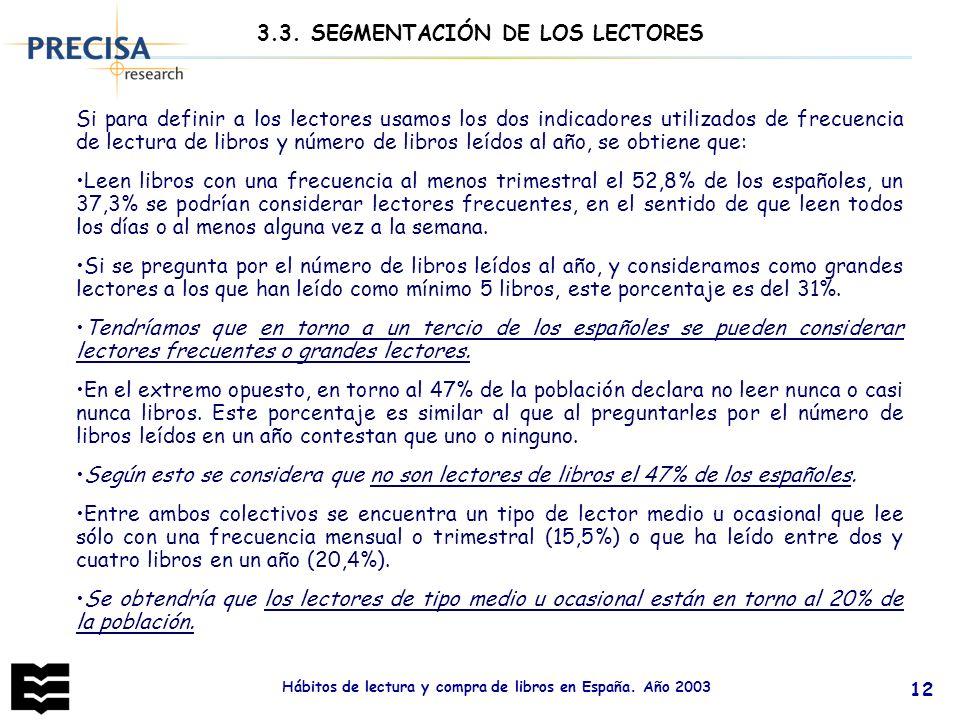 3.3. SEGMENTACIÓN DE LOS LECTORES