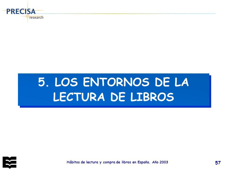 5. LOS ENTORNOS DE LA LECTURA DE LIBROS