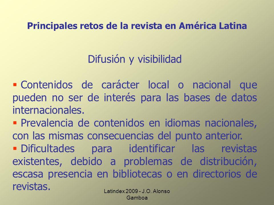 Principales retos de la revista en América Latina