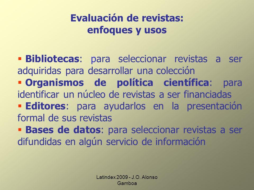 Evaluación de revistas: enfoques y usos