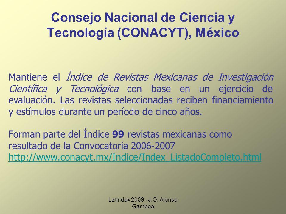 Consejo Nacional de Ciencia y Tecnología (CONACYT), México