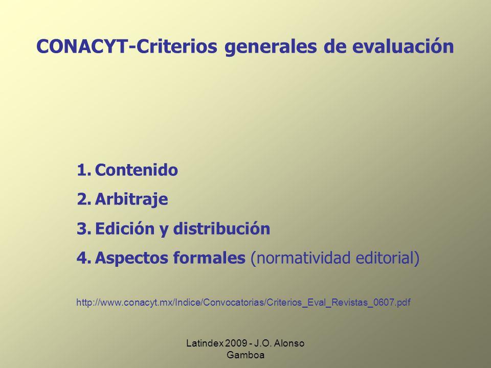 CONACYT-Criterios generales de evaluación