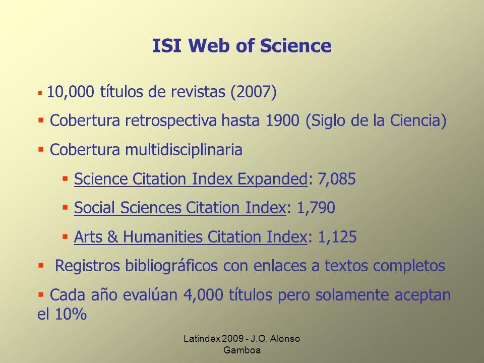 Latindex 2009 - J.O. Alonso Gamboa