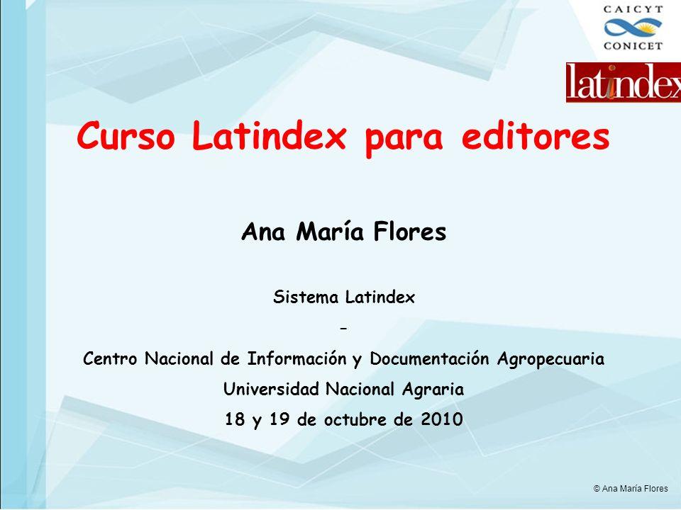 Curso Latindex para editores
