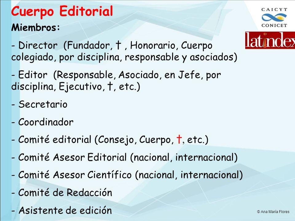 Cuerpo Editorial Miembros: