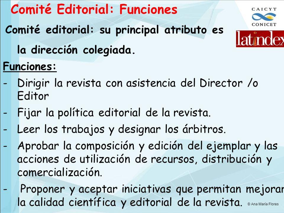 Comité Editorial: Funciones