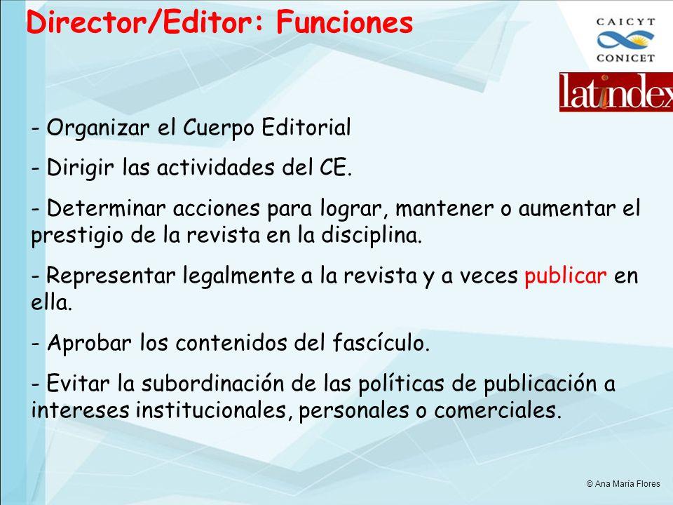 Director/Editor: Funciones