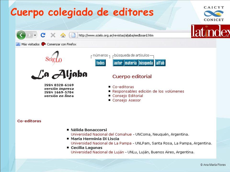 Cuerpo colegiado de editores