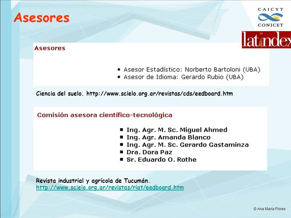 Asesores Ciencia del suelo. http://www.scielo.org.ar/revistas/cds/eedboard.htm. Revista industrial y agrícola de Tucumán.