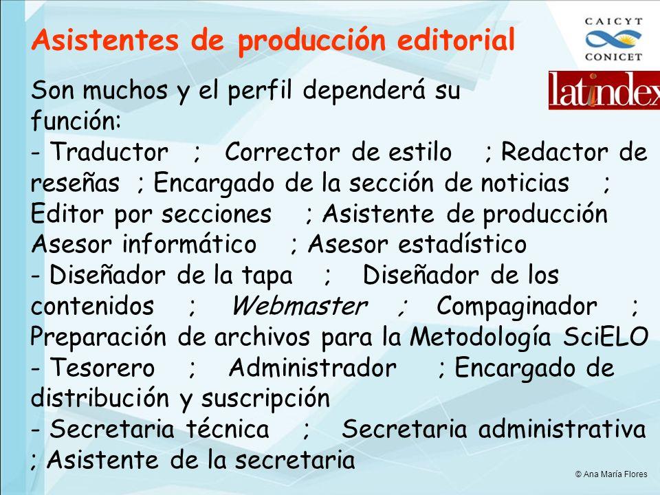 Asistentes de producción editorial