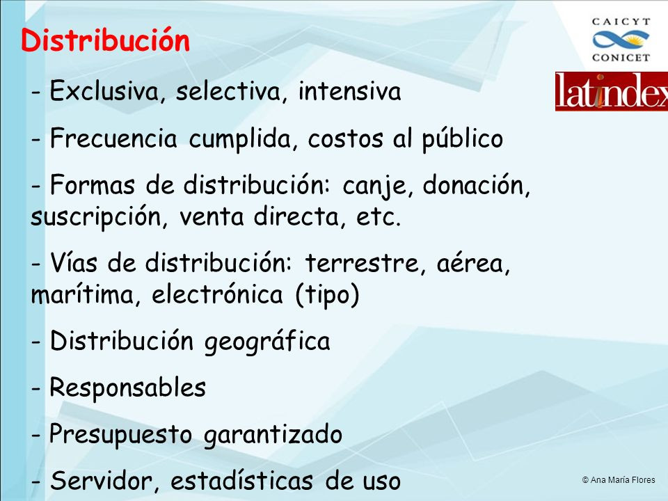 Distribución Exclusiva, selectiva, intensiva