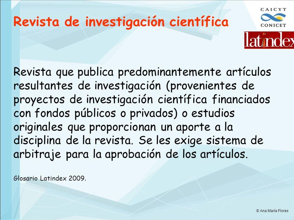 Revista de investigación científica