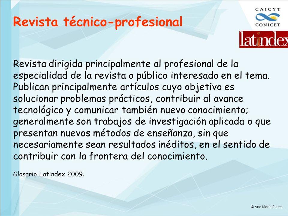Revista técnico-profesional