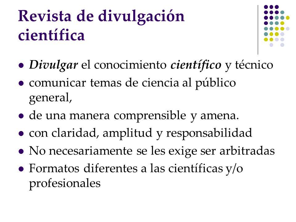 Revista de divulgación científica
