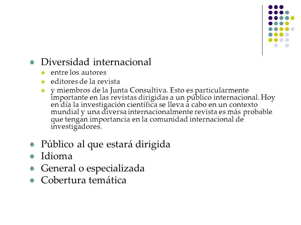 Diversidad internacional