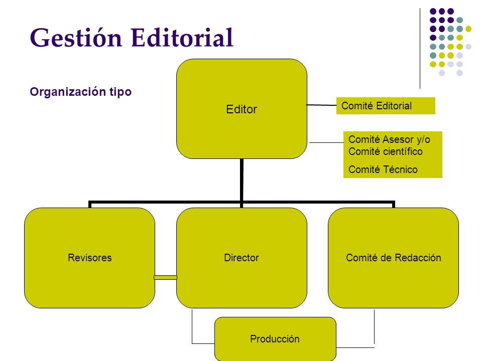 Gestión Editorial Organización tipo