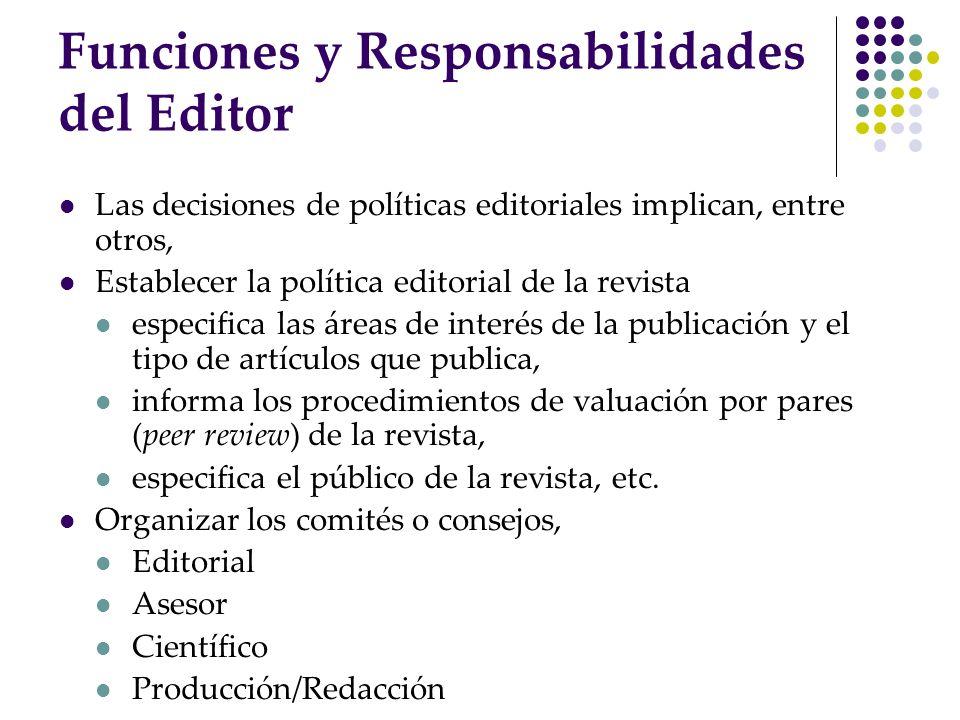 Funciones y Responsabilidades del Editor