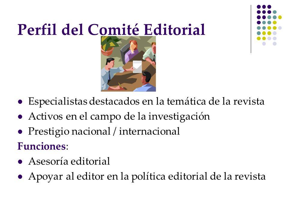 Perfil del Comité Editorial