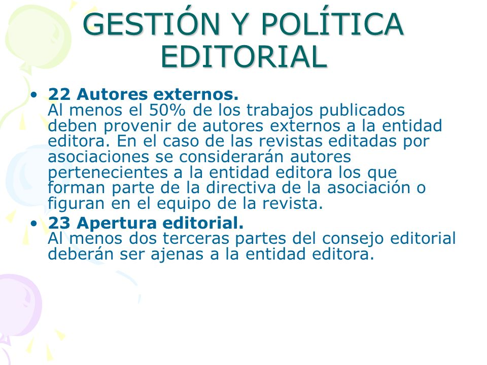GESTIÓN Y POLÍTICA EDITORIAL