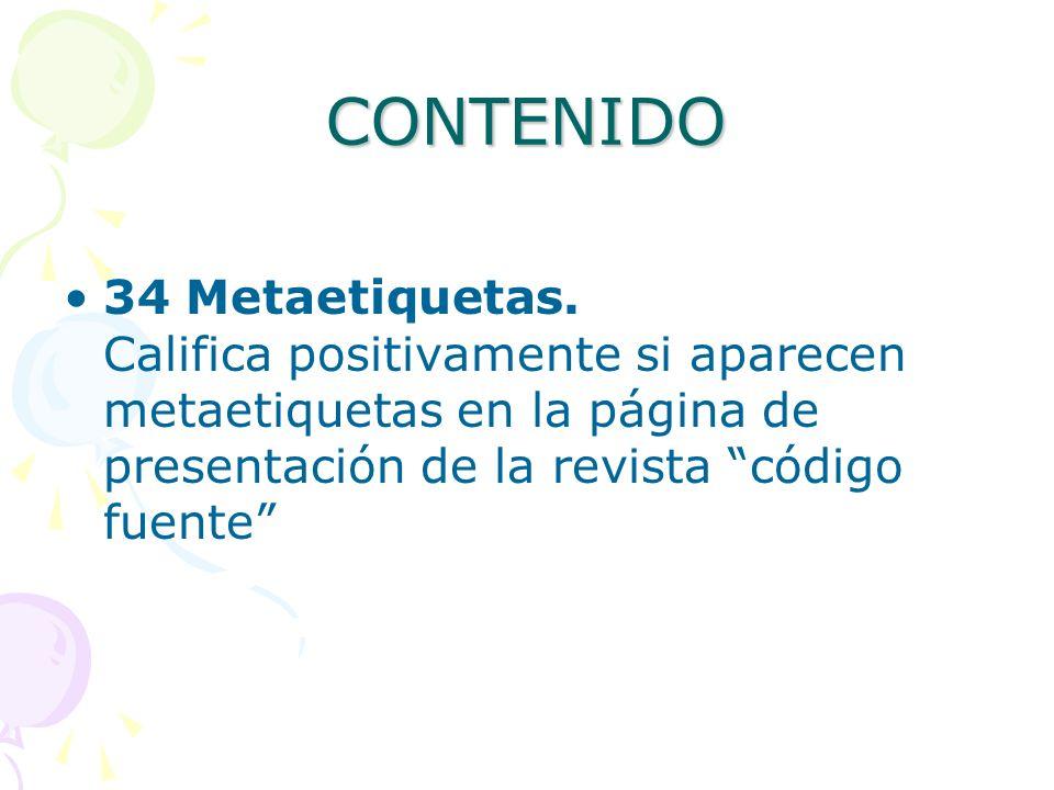 CONTENIDO 34 Metaetiquetas.