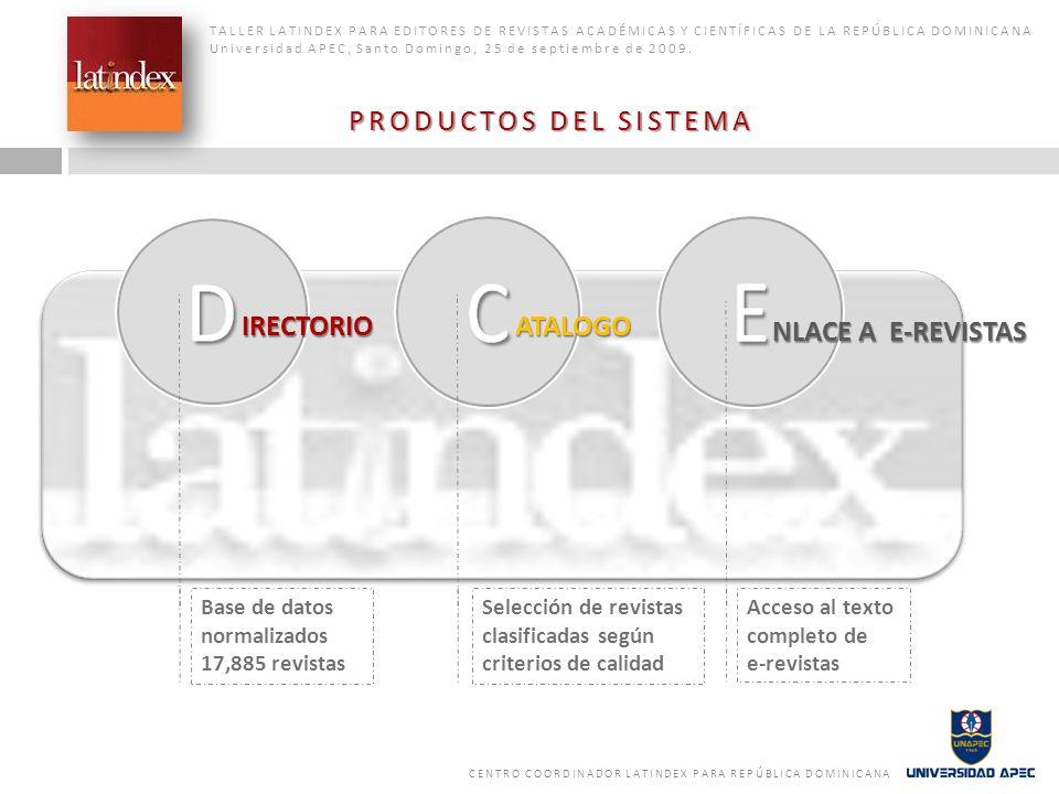 IRECTORIO ATALOGO NLACE A E-REVISTAS