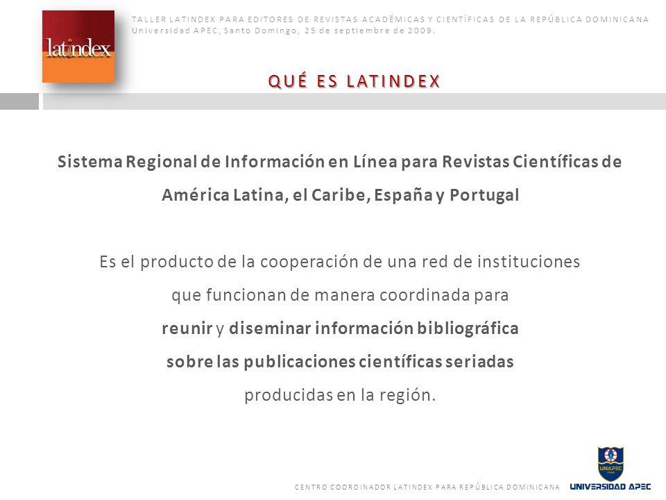 Sistema Regional de Información en Línea para Revistas Científicas de