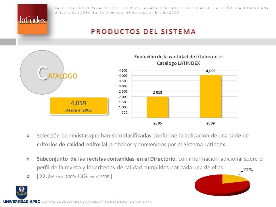 PRODUCTOS DEL SISTEMA ATALOGO 4,059