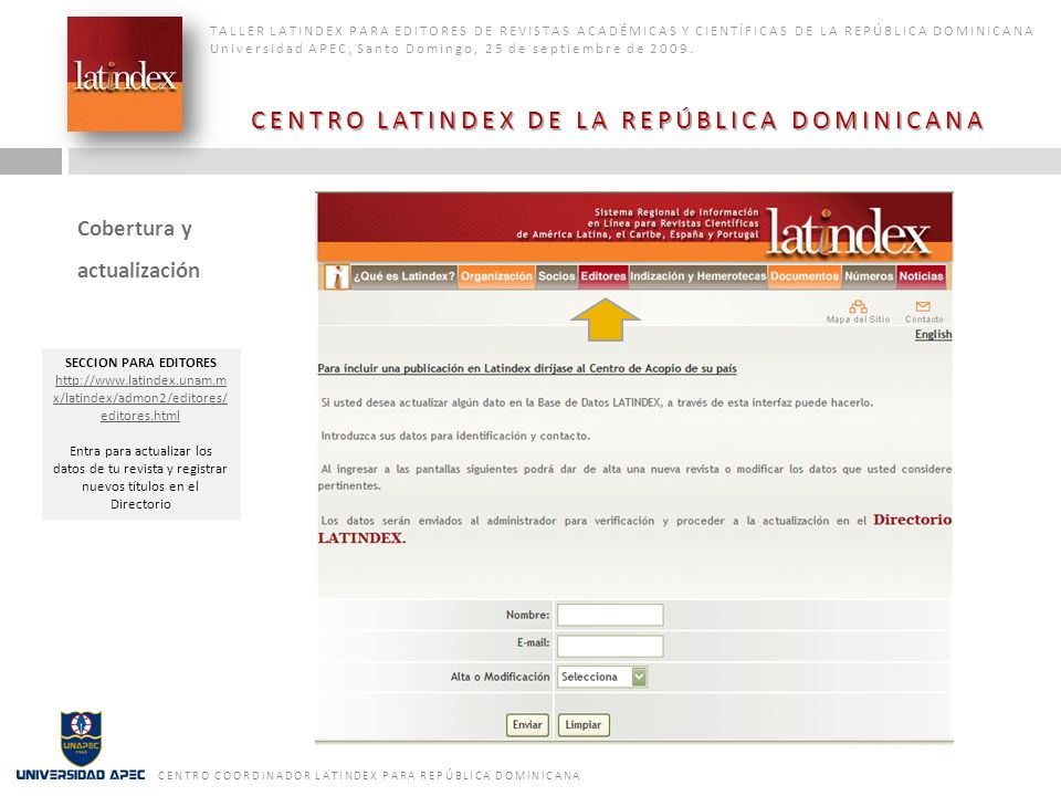 CENTRO LATINDEX DE LA REPÚBLICA DOMINICANA