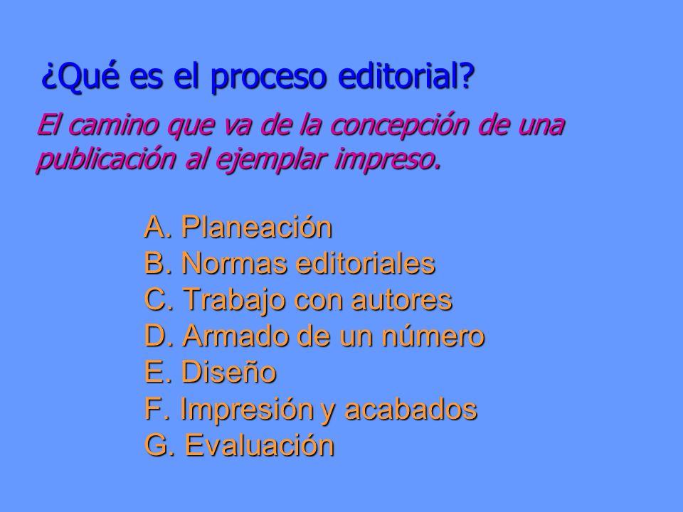 ¿Qué es el proceso editorial