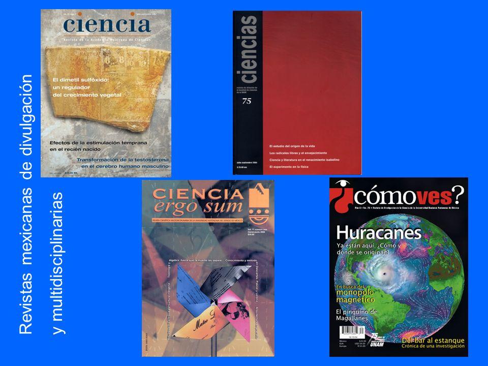 Revistas mexicanas de divulgación