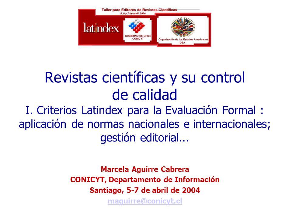 Marcela Aguirre Cabrera CONICYT, Departamento de Información