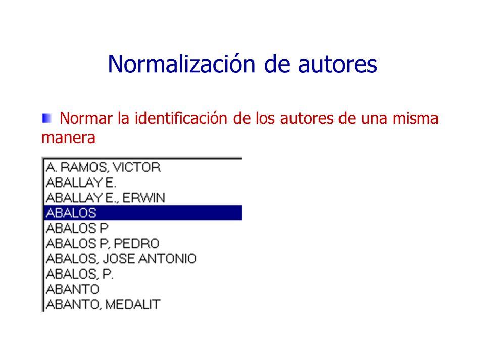 Normalización de autores