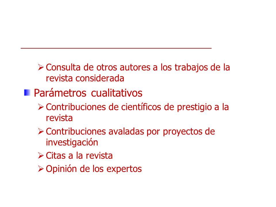 Parámetros cualitativos