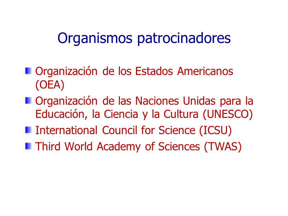 Organismos patrocinadores