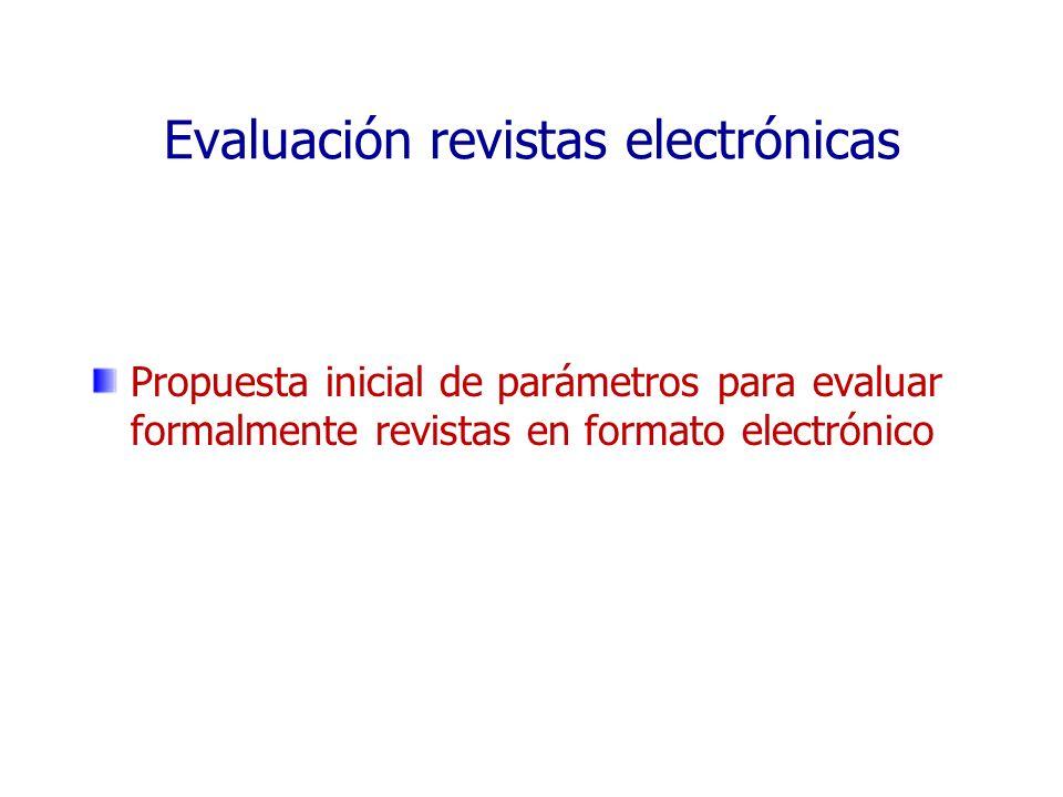 Evaluación revistas electrónicas
