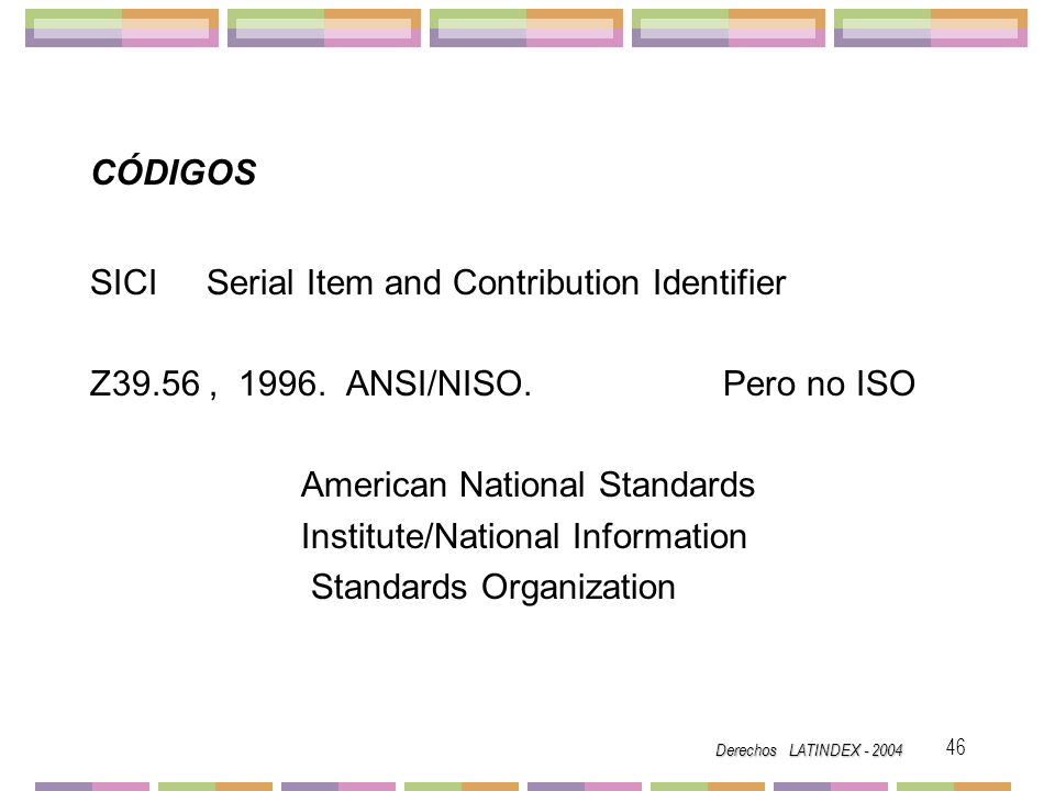 SICI Serial Item and Contribution Identifier