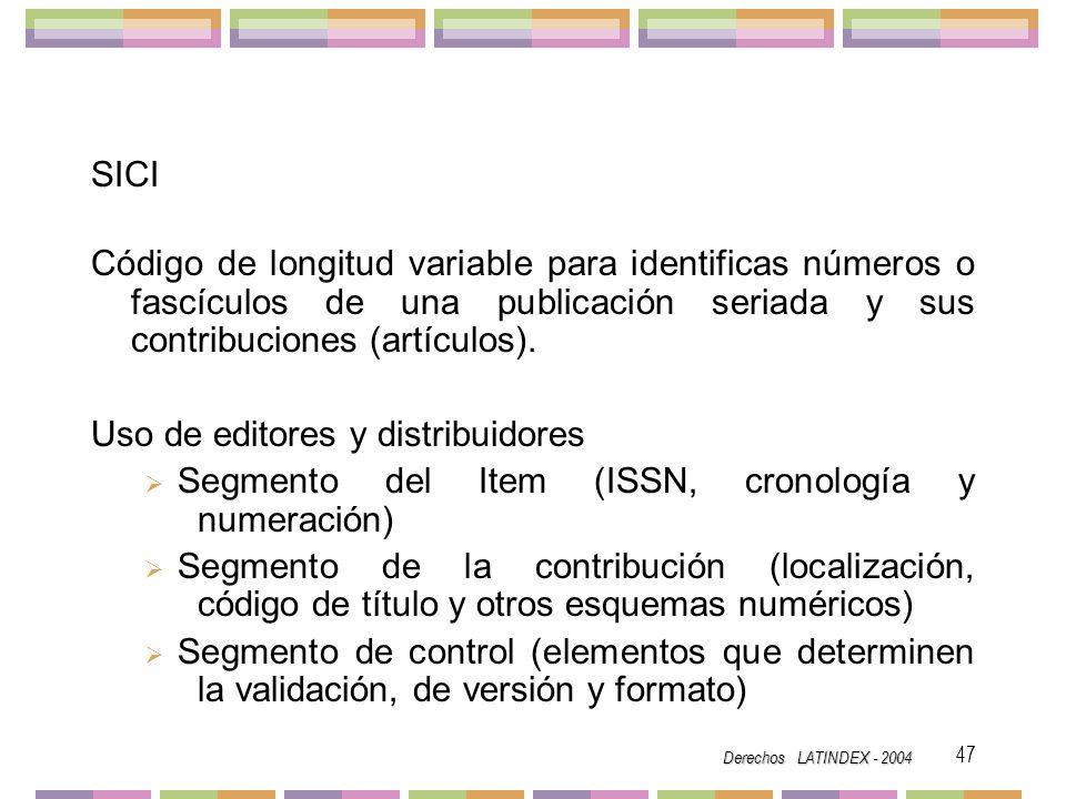 Uso de editores y distribuidores
