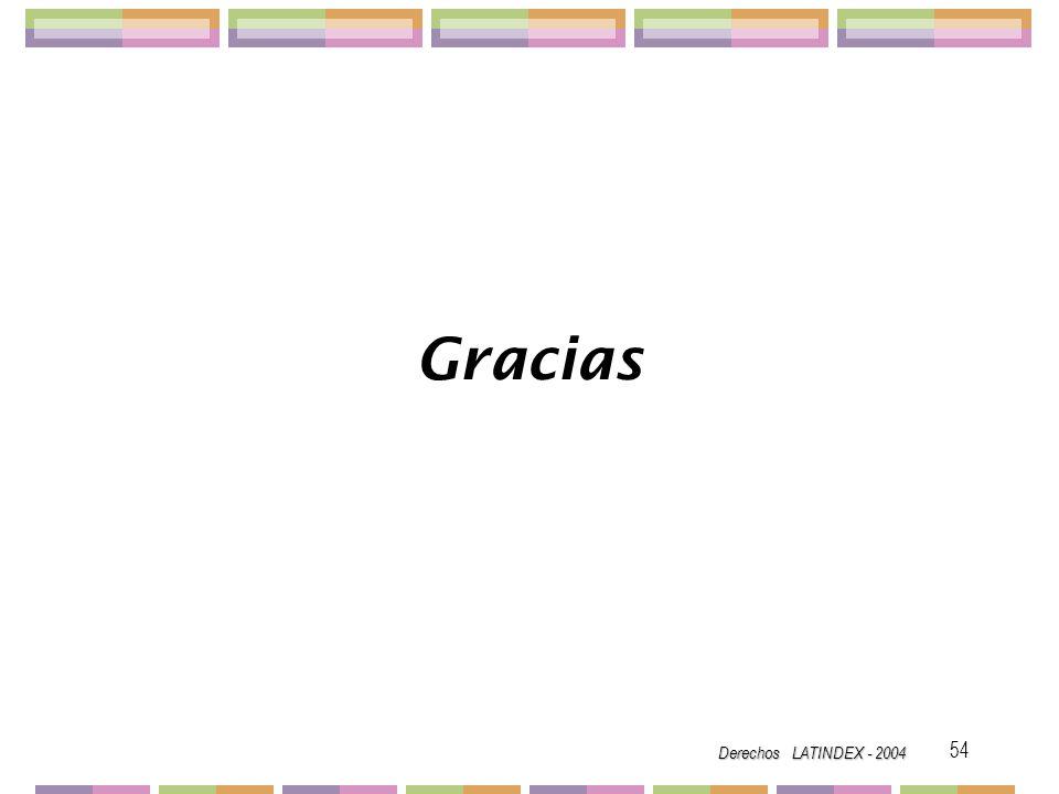 Gracias Derechos LATINDEX - 2004