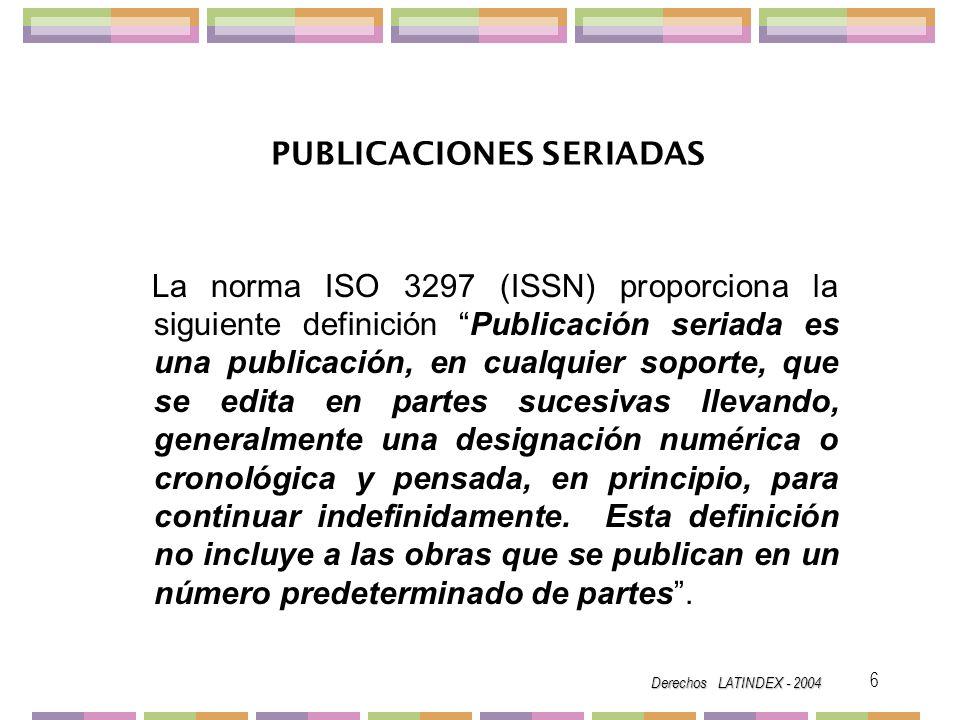 PUBLICACIONES SERIADAS