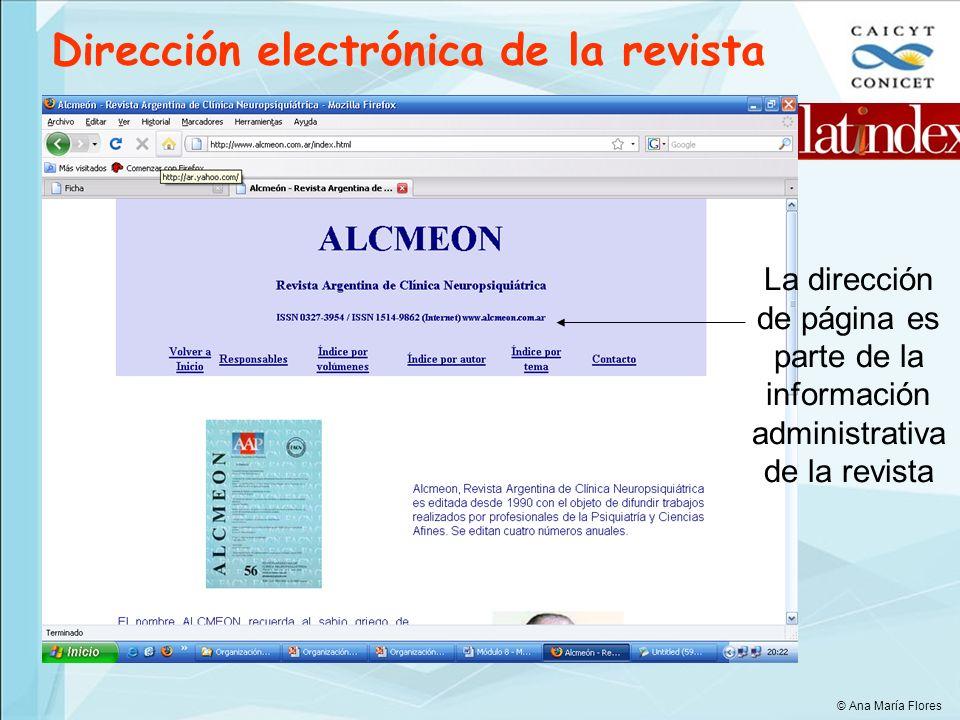 Dirección electrónica de la revista