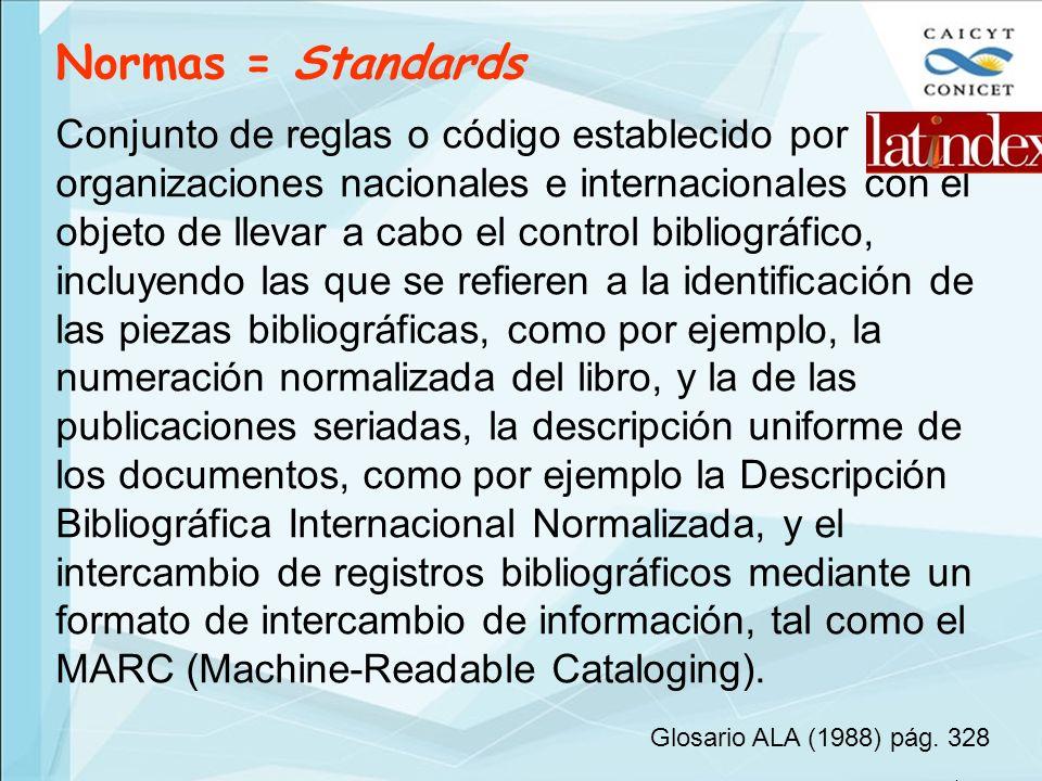 Normas = Standards