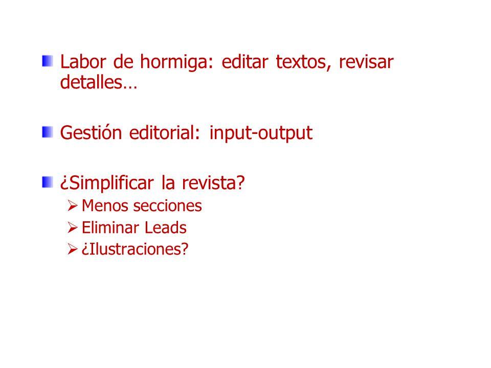 Labor de hormiga: editar textos, revisar detalles…