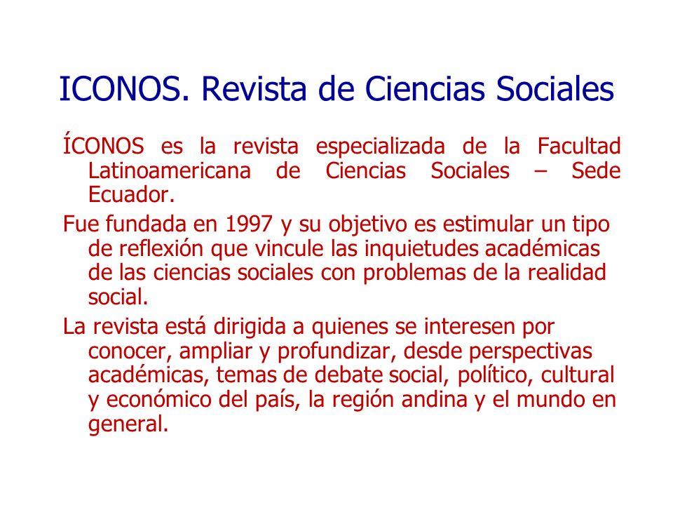 ICONOS. Revista de Ciencias Sociales