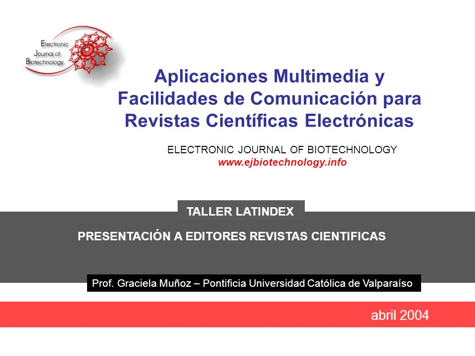 ELECTRONIC JOURNAL OF BIOTECHNOLOGY www.ejbiotechnology.info