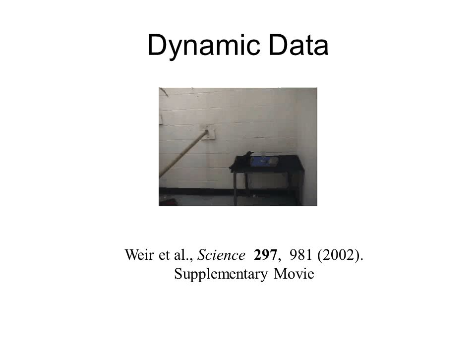Dynamic Data Weir et al., Science 297, 981 (2002). Supplementary Movie